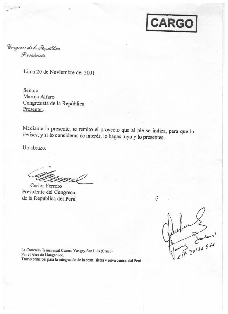 Carta Congreso 2001-1